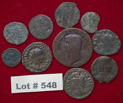 Roman Empire Lot#548 Claudius and other 10 Coins Affordable for Beginners