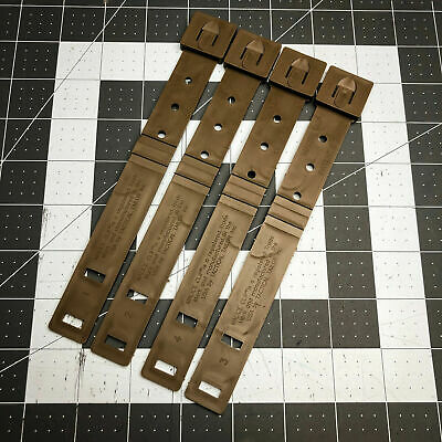 Lot of 4 Tactical Tailor Coyote Brown Short Malice Clips 4 Pack OTW Loops MOLLE