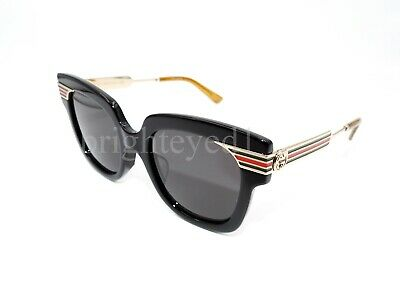 9790da6e7bc94 AUTHENTIC GUCCI BLACK Cat Eye Sunglasses GG0281SA - 001  NEW ...