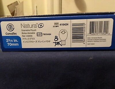 """Four ConvaTec 416424 Natura Drainable Ostomy Pouch 2¾""""Flange Exp2/2022"""
