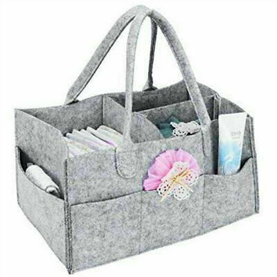 Large Baby Diaper Caddy Nursery Storage Infant Wipes Bag Nappy Organizer Basket
