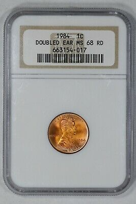 1984 Lincoln Memorial Cent 1C Doubled Ear Ngc Certified Ms68Rd Pretty Color (017