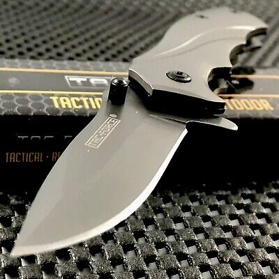 "TAC FORCE 6.5"" TITANIUM COATED SPRING ASSISTED TACTICAL FOLDING KNIFE Blade Open"