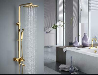 Chrome, Gold ,Antique Black Brass Hot and Cold Exposed Bath Tub Shower Tap Set