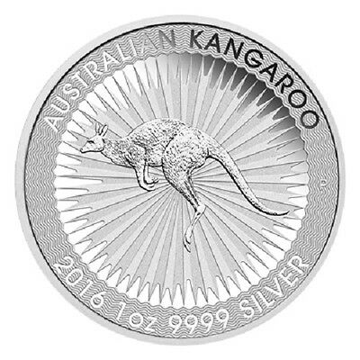 1 troy oz 9999 Pure Solid Silver 2016 Australian Kangaroo Silver Coin