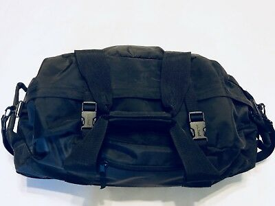 "LL Bean The Traveler Black 24"" Rolling Upright Luggage Nylon Duffle"