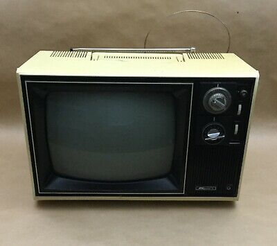 Vintage Kmart Yellow B/W Television Model SKP 1214
