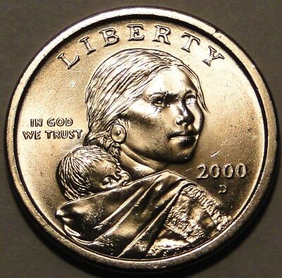 United States 2000 D $1 Native American Sacagawea dollar coin nice circulated