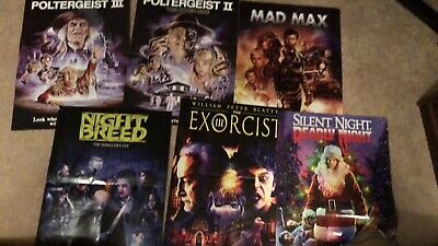 Scream Factory Posters. Exorcist 3.Poltergeist. Nightbreed.Mad Max.SilentNight.