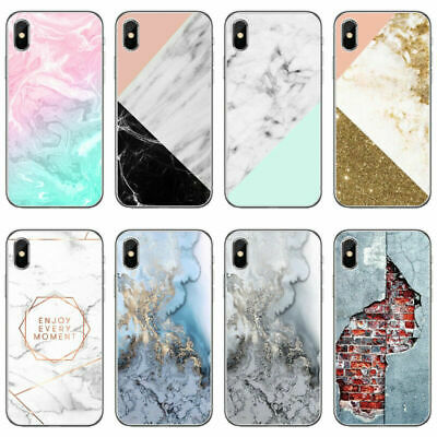 Pattern Marble Shockproof Soft Shell Phone Case For iPhone XS Max XR 6s 7 8 5 SE