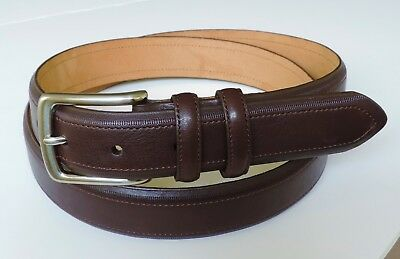 Tommy Hilfiger Mens Brown Braided Leather Casual Jeans Belt Size 34 38 New RV$40