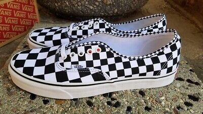 222af3b802 Vans Authentic Mixed Checkers Black - True White Men s Size 12 New In Box