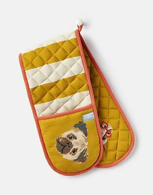 Joules Kitchen Oven Gloves ONE in GOLD DOG in One Size
