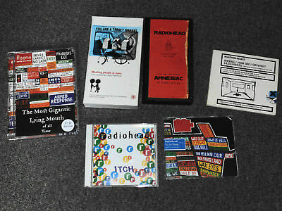 Radiohead Collection CD's DVD's and VHS