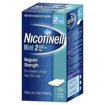 New Nicotinell Chewing Gum 2mg Mint 96 Helps Stop Smoking