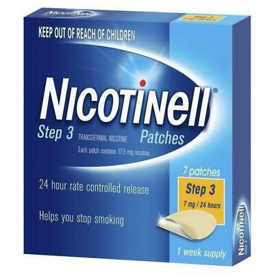 New Nicotinell Step 3 Patches 21mg 24 Hours 7 Patches 1 Week Supply