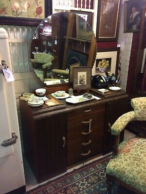 1930's x7 Drawer Art Deco Dressing Table