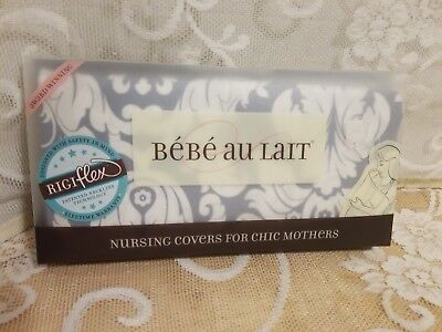 Bebe Au Lait Chateau Silver Nursing Cover New in Package !