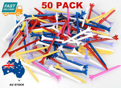 50Pack Golf Tees Zero Friction Plastic Tee 83mm Mixed Color Free Shipping