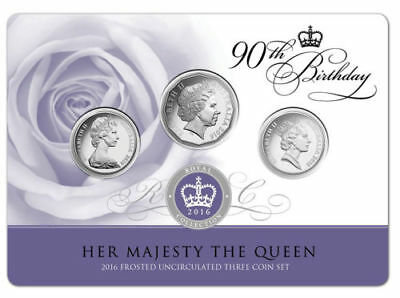 2016 Queens 90th Birthday 3 coin set-what's so special with the 2016 set