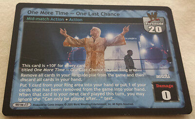 WWE Raw Deal ONE MORE TIME -- ONE LAST CHANCE midmatch rare