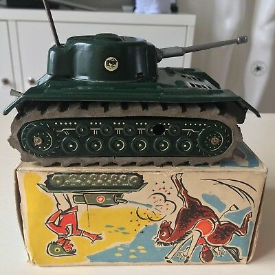 Rare Arnold Clockwork Tank Army Germany German Wind Up Tin Toy Antique Vintage