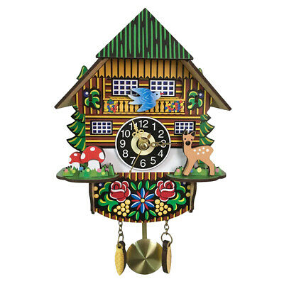 Creative 3D Cuckoo Clock Battery Powered Quartz Clock Decorative Wall Clock