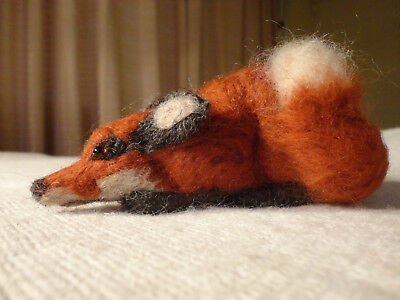 Hand Made Individual needle felted Fox