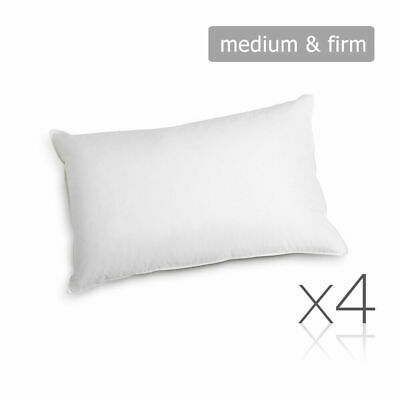 Family 4 Pack Bed Pillows Medium Firm Cotton Cover 48X73CM Brand New @TOP