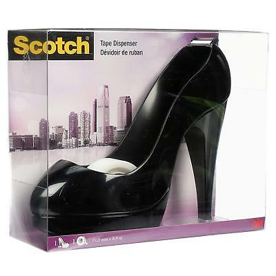 SCOTCH Stiletto Shoe High Heel TAPE DISPENSER – Black