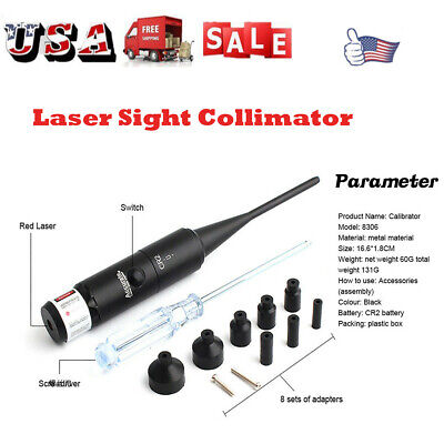 RED Laser Boresighter Sight Collimator For .177-.50 Caliber Bore Sighter Rifles