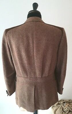 """BEAUTIFUL BELLISSIMA EARLY 80's """"FACIS"""" HALF BELTED MEN'S TWEED JACKET SIZE 38"""