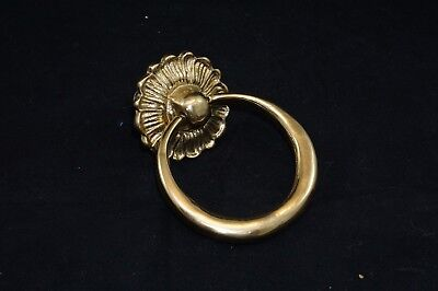 Solid Brass Chunky Round Hoop Ring Front Door Knocker Period Antique