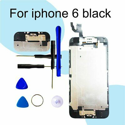 Black  Digitizer Assembly Screen Replacement+Camera+Home Button For iPhone 6 LCD
