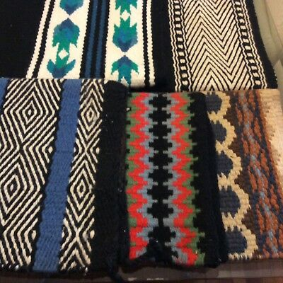 LOT OF 5 Western Show Pads - Assorted Patterns Ranch Horse Riding Trail