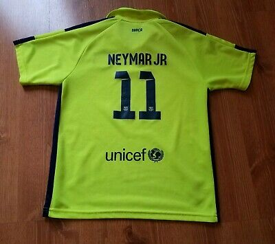 b5345a5e34d FC Barcelona Neymar Jr Jersey Youth Medium Neon Yellow FCB Soccer Futbol  Spain