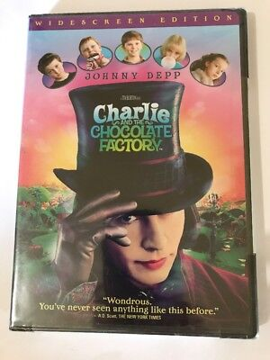 Charlie and the Chocolate Factory (DVD, 2005, Widescreen) BRAND NEW SEALED
