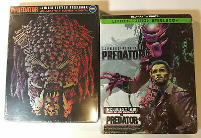 The Predator 4K (2018) Steelbook +Predator (1987) Steelbook Blu-ray+Digital Copy