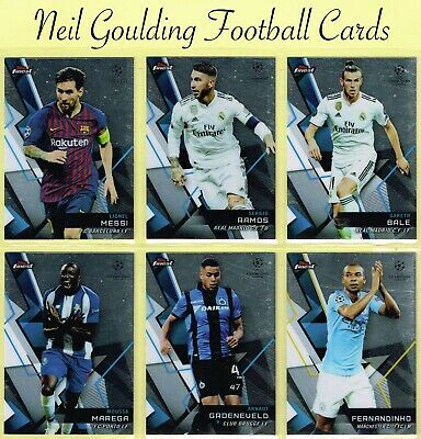 Champions League FINEST 2018-2019 ☆ FOOTBALL BASE CARDS ☆ #1 to #100