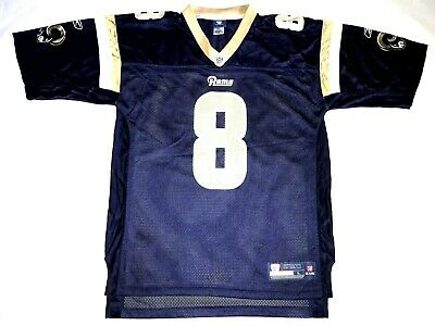 ac3224ed SAM BRADFORD ST. Louis Rams #8 Blue Reebok NFL Football Jersey Mens Large