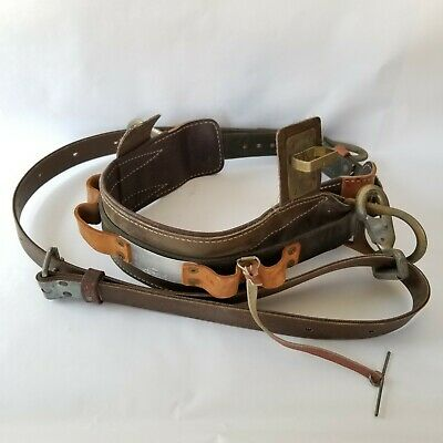Bell System D Buckingham Lineman Utility Belt Safety Strap 1979