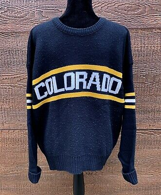 COLORADO BUFFALOES Vintage 80s CLIFF ENGLE Wool Blend Knit Sweater Men s XL 90e971bb1