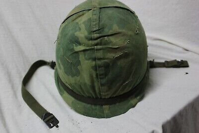 US Military WW2 M1 Front Seam HELMET RE Issue For Vietnam wth Liner Complete A52
