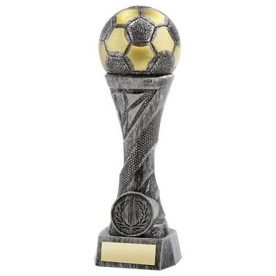 Pewter Gold Weighted Plastic Football Trophy 6.25in FREE Engraving