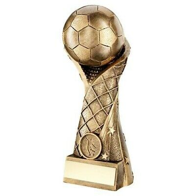 Bronze Gold Football On Star Net Riser Trophy 7in FREE Engraving