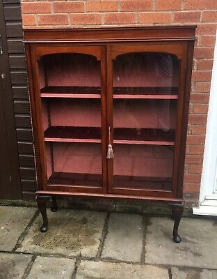 Large Victorian Mahogany Bookcase Cabinet Antique Vintage