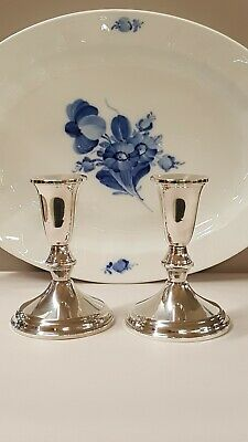 """Beautiful Pair Of Vintage Duchin Sterling Silver Candlesticks 4-5/8"""" Excellent"""
