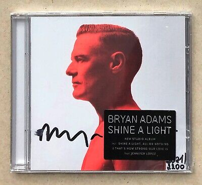 Bryan Adams * Shine A Light * Uk Exclusive Signed & Numbered 12 Trk Cd * Sealed!
