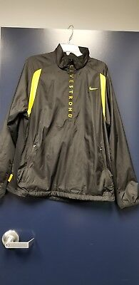 52c92bb311 Nike Mens Livestrong Running Athletic Pullover Jacket Black Yellow 1 2 Zip  Large