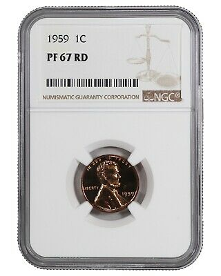 1959 Lincoln Memorial Cent Penny 1C Ngc Certified Pf 67 Rd Proof Red (042)